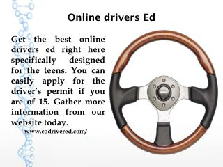 Online drivers Ed