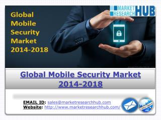 Global Mobile Security Market to Grow at a CAGR of 38.3 % over the Period 2013-2018