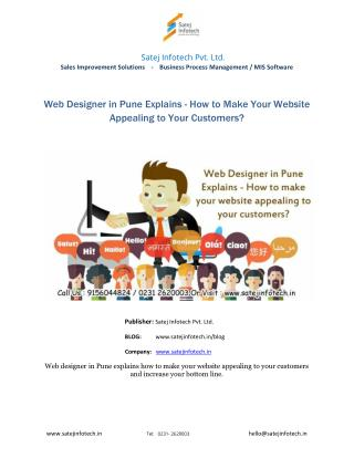 Web Designer in Pune/Web Design Company in Pune