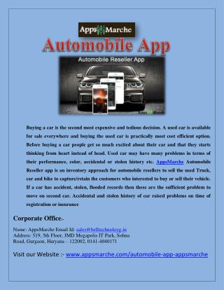 Best Automobile App | Pre-Owned Car Dealer App | Car Dealer App