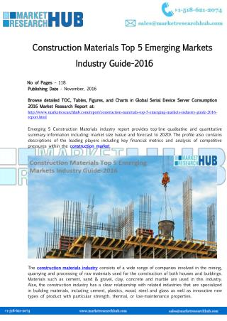 Construction Materials Top 5 Emerging Markets Industry Guide-2016