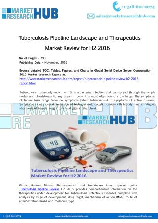 Tuberculosis Pipeline Landscape and Therapeutics Market Review for H2 2016