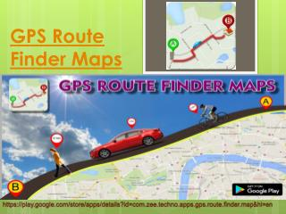 GPS Route Finder Map