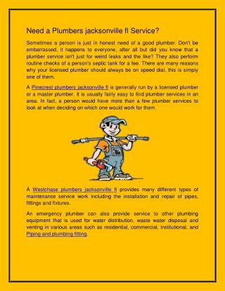Plumbers jacksonville fl |Plumbers services