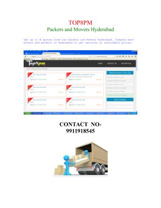 MOVERAS AND PACKERS IN HYDERABAD