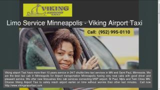 Minneapolis MSP Airport Taxi | Limousine Service in MN and Saint Paul - Viking Airport Taxi