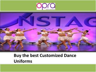 Get Customized Dance Uniforms
