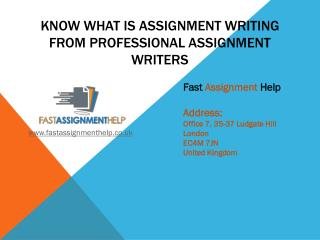 Know What Is Assignment Writing From Professional Assignment Writers