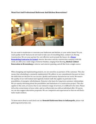 Kitchen Redesign Ideas Zionsville