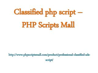Classified php script – PHP Scripts mall