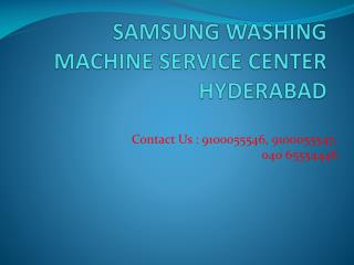 Samsung Washing machine Service Center Hyderabad.