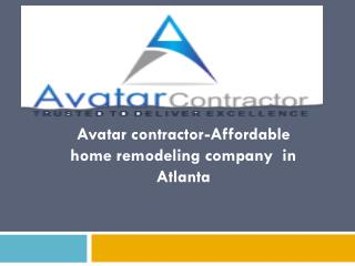 Avatar contractor-Affordable home remodeling company in Atlanta