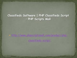 Classifieds Software | PHP Classifieds Script – PHP Scripts Mall