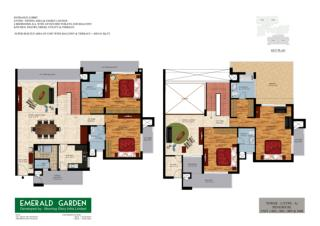 4 BHK Penthouse Type - Emerald Garden