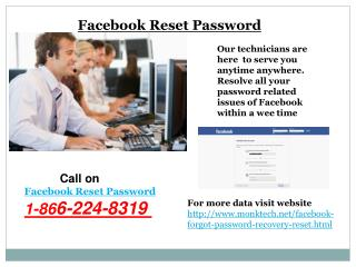 Instant Solution facebook password recovery 1-866-224-8319