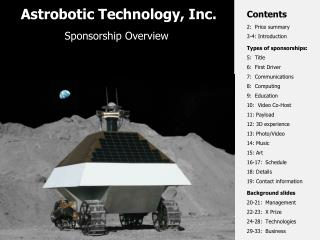 Astrobotic Technology, Inc.