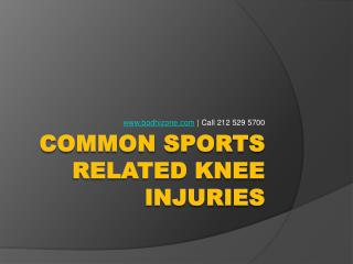 Sports related Knee Contusion