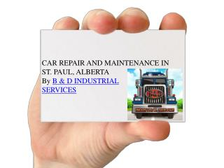 Car Maintenance Services in St.Paul, Alberta