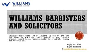 Williams Barristers and Solicitors Is One of the Top Law Firms in Adelaide