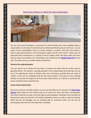 Marble Repair Kit