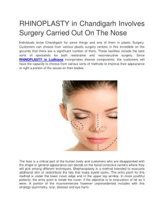 RHINOPLASTY in Chandigarh @9217060061