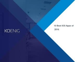Top 10 Best iOS Applications of  2016
