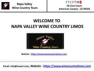 Wine country tours napa