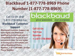 Blackbaud Customer ~1877-778-8969~ Support For USA