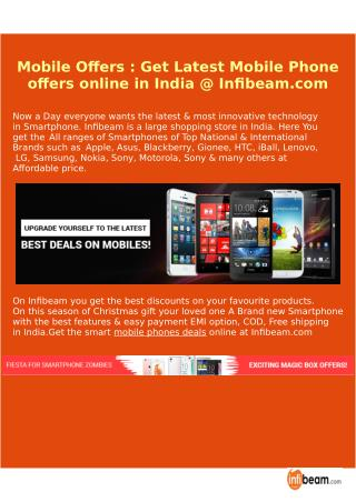 Mobile Offers : Get Latest Mobile Phone offers online in India @ Infibeam.com