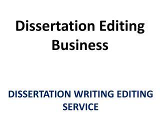 Premium Quality Dissertation Editing