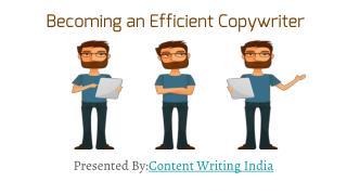 Becoming an efficient copywriter