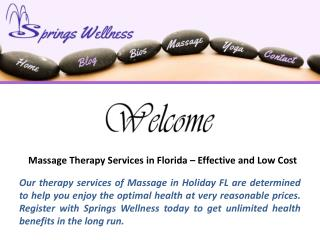 Massage Therapy Services in Holiday FL – Effective and Low Cost