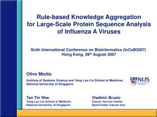 Rule-based Knowledge Aggregation  for Large-Scale Protein Sequence Analysis of Influenza A Viruses