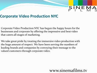 Corporate Video Production NYC