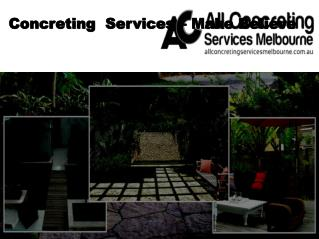 Concreting Service in Melbourne