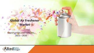 Air Freshener Market Segments by by Product Type (Sprays/Aerosols, Electric Air Freshener (Plug-In), Gel Air Freshener),