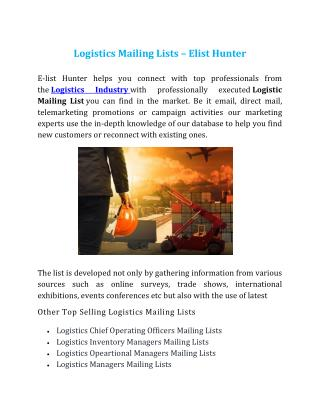 Logistcis Mailing Lists