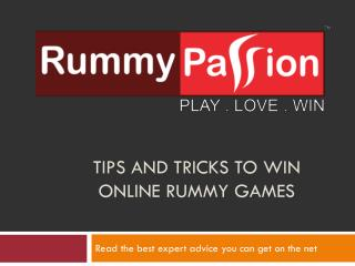 Tips and Tricks to Win Online Rummy Games