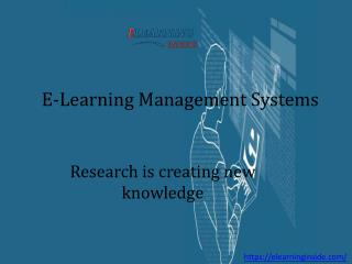 E-Learning Management Systems