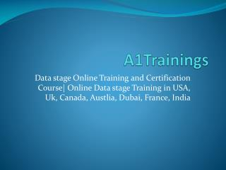 Data stage Online Training in USA, UK, India
