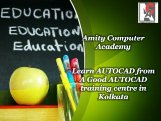 Learn AUTOCAD from A Good AUTOCAD training centre in Kolkata