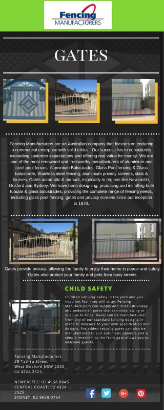 Fencing manufactures (Gates)