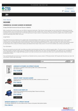 Commercial Vacuum Cleaners Adelaide