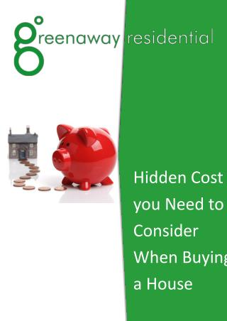 Hidden Cost you Need to Consider When Buying a House