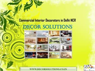 Commercial Interior Decorators Delhi NCR