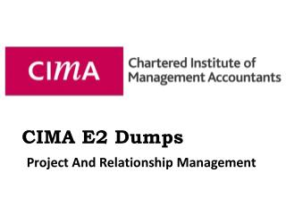 CIMA E2 Exam Verified Dumps - Dumps4download.com