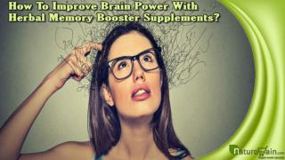 How To Improve Brain Power With Herbal Memory Booster Supplements?
