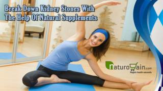 Break Down Kidney Stones With The Help Of Natural Supplements