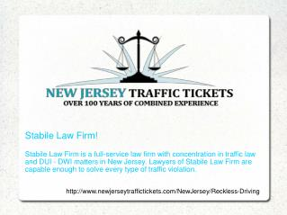 Reckless driving in New Jersey