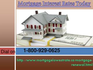 Have you want help on Mortgage Interest Rates Today Dial on 1-800-929-0625